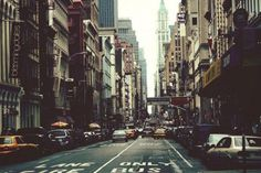 New York // I love photos like this. Looks busy in a marvelous way.