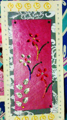 sequins layered card