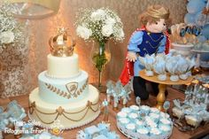 King + Prince themed birthday party via Kara's Party Ideas | Cake, decor, recipes, favors, games, and MORE! KarasPartyIdeas.com #kingparty #princeparty #littleprince #partyplanning #partydesign #partyideas (12) | Kara's Party Ideas