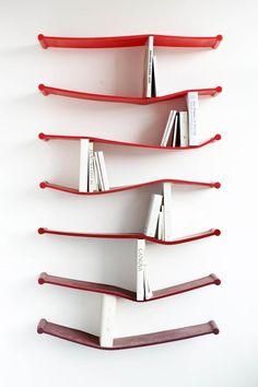 this looks impractical, but is so wonderful...Luke Hart Rubber Shelves