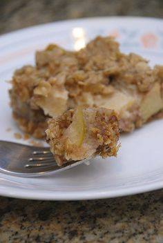 Baked Apple Squares Recipe - 3 Points + - LaaLoosh.  Yum, ready for apple picking now...