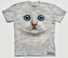 Camiseta Gatito Blanco | Regalos Curiosos