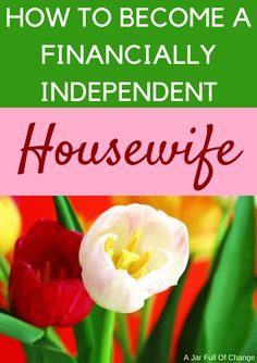 Becoming a financially independent housewife isn't just about no longer relying on a man for money. It's knowing that whatever circumstances are thrown your way, you'll be ready. via @jarfullofchange