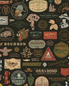 © Zack Kiernan Vintage Typography, Typography Logo, Graphic Design Typography, Graphic Design Art, Vintage Logo Design, Badge Design, Label Design, Branding Design, Western Logo
