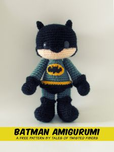SCROLL DOWN FOR BATMAN AMIGURUMI AND CLICK PICTURE TO GET FREE PDF PATTERN