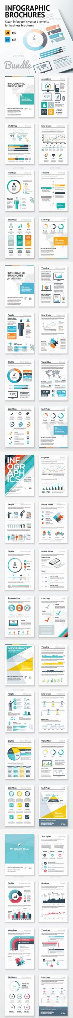 Infographic Brochure Elements Bundle Template #design Download: http://graphicriver.net/item/infographic-brochure-elements-bundle/10543927?ref=ksioks