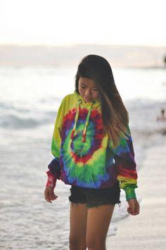 rainbow hoodie - tie dye - super soft - top quality - sweatshirt - hoodie by BeachBabeApparel on Etsy https://www.etsy.com/listing/203407142/rainbow-hoodie-tie-dye-super-soft-top