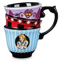 Disney Store Alice In Wonderland Teacup Mug Cheshire Cat White Rabbit