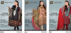 Mausummery Winter Collection 2014 with Pashmina Shawl for Women. Mausummery Winter Dresses Vol 1 Facebook Designs with Prices and Shalwar Kameez for Girls.