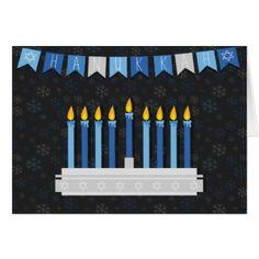 #Chalkboard Hanukkah Snowflakes Card - #chalkboard #gifts