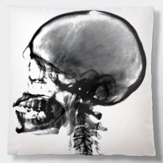 Radiant Relics X-Ray Skull Pillow