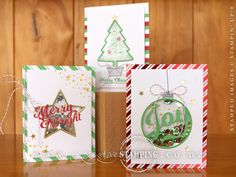 To You & Yours Shaker Cards Project Kit. Includes instructions, card bases, envelopes, window sheets, dimensional adhesive strips and accents for 18 cards, 6 each of 3 designs. Complete the kit using the To You & Yours Too stamp set (stamps, ink and adhesive sold separately). www.creativestamping.co.nz | Stampin' Up! | 2015 Holiday Catalogue