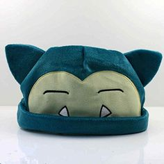 Pokemon Snorlax Hat Plush Soft Stuffed Toy Doll Figure Cap Gift by handstiched ** Click image to review more details.