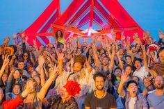 Beautiful, multicultural crowd at Wonderfruit