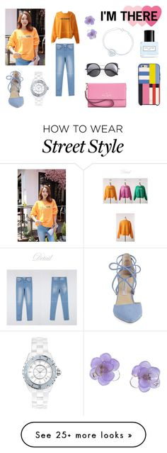 """""""Styleonme_Basic Casual Sweatshirt"""" by styleonme-kr on Polyvore featuring Kristin Cavallari, Kate Spade, Marc Jacobs, Sephora Collection, Chanel, Tiffany & Co. and Wood Wood"""