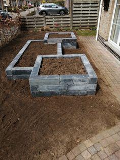 No Grass Backyard, Backyard Patio Designs, Front Yard Landscaping, Fruit Garden, Edible Garden, Garden Pots, Landscape Design, Garden Design, Gravel Garden