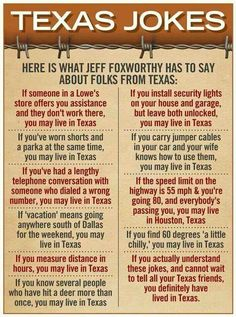 Jeff Foxworthy Jokes about Texas