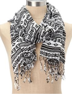 $9.50 at Charlotte Russe, tribal scarf.