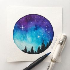 Formato circular identity in 2019 watercolor paintings, art Watercolor Galaxy, Galaxy Painting, Galaxy Art, Watercolor Drawing, Painting & Drawing, Watercolor Paintings, Watercolor Ideas, Body Painting, Galaxy Drawings