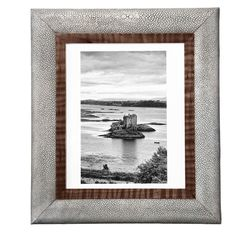 Faux Shagreen Photo Frame, Large - Taupe