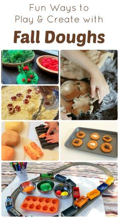 Fun Ways to #Play and Create with #Fall Doughs