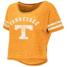 cd73c8edfe888 Tennessee Volunteers Colosseum Women s Red Zone Crop Top T-Shirt -  Tennessee Orange University Store