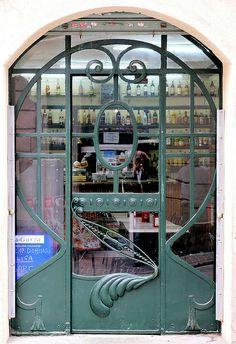 Art Nouveau doorway in Barcelona - Atlàntida 061 d photo by Arnim Schulz, via Flickr