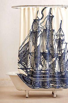 Elizabethan Sails Shower Curtain
