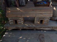 Primitive Handmade Wooden Dogtrot Cabin Log by PrimitiveGypsy