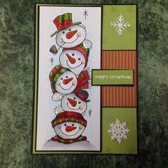 Woodware beautiful snowmen so versatile - love them