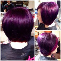Purple hair pravana by liz @seasonssalon