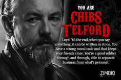 Chibs Telford - Which 'Sons of Anarchy' Character Are You? - Zimbio