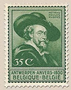 belgian stamps Exhibition Gramme and Rubens in Antwerp and Luik.