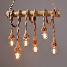 JIN Americano canna di bambù lampadario corda ristorante negozio di abbigliamento soggiorno caffè luce di bambù decorato , #3