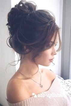 Bun hairstyles are the most popular wedding hairdos. They are good for different hair length. Get inspired with our collection of wedding bun hairstyles. Wedding Bun Hairstyles, Prom Hair Updo, Hairdo Wedding, Bridal Hair Updo, Side Hairstyles, Headband Hairstyles, Bridal Bun, French Twist Hair, Bridesmaid Hair