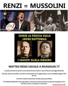 Renzi = Mussolini