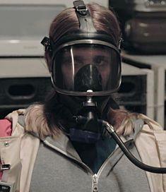 Gas Mask Girl, Oxygen Mask, Gas Masks, Respirator Mask, Full Face Mask, Masquerade, Riding Helmets, Babe, Tv Shows