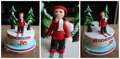 A skiing cake for Annemarie's 50th :)
