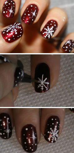 nice 27 DIY Christmas Nail Art Ideas For Short Nails - Pepino Nail Art Design