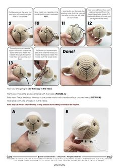 Buttercup Lamb curtain tieback crochet PATTERN right or - SalvabraniCuddly sheep amigurumi crochet pattern by Kristi Tullus My mom loved sheep and she would love this one!best 25 crochet bunny ideas on crochet bunnyImage gallery – Page 386535580492 Crochet Sheep, Crochet Mouse, Crochet Teddy, Crochet Doll Pattern, Crochet Patterns Amigurumi, Cute Crochet, Crochet Dolls, Amigurumi Toys, Diy Crafts Crochet