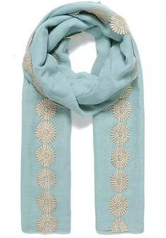 Sea Foam Green Plain Vintage Dasiy Lace Trimmed Pashmina Scarf Wrap SS17  #Intrigue #Scarf