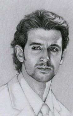 Hrithik roshan pencil sketch hrithik roshanthedrawinghands on deviantart ~ pencil portrait Realistic Sketch, Realistic Pencil Drawings, Art Drawings Sketches Simple, Pencil Art Drawings, Pencil Sketching, Pencil Sketch Portrait, Portrait Sketches, Portrait Art, Man Illustration