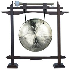 """06"""" Wind Gong with Rosewood Pedestal Gong Stand and Mallet Combo"""