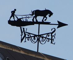 Man and Horse Plowing ~ Unusual Weather Vanes found in Suffolk - Suffolk, England