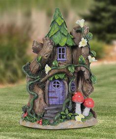 Look what I found on #zulily! Solar Red Mushrooms Fairy House Figurine #zulilyfinds