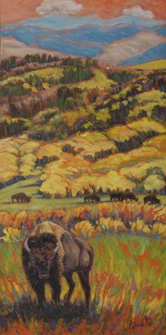 Wild West Splendor by Gina Grundemann, Landscape Painter