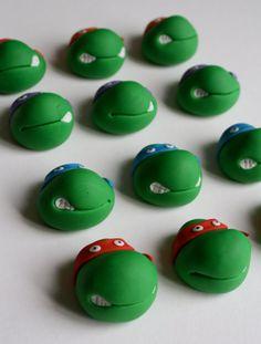 Fondant Teenage Mutant Ninja Turtles CupCake Toppers