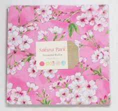 -Sakura park Layer Cake - Patchwork & Quilting Fabric