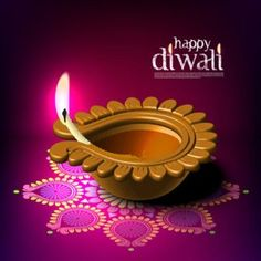Free vector of happy Diwali Diya burning in Indian Traditional Cup on pink…