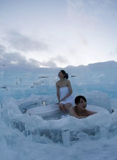 Hokkaido, Japan - they did have ice hotels there. Also fabulous ice sculptures during the snow festival